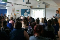 Inspirational Speaking at Local College